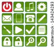 Iconset - stock vector