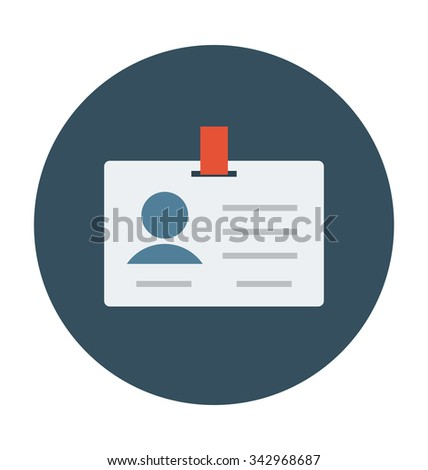 ID Card Colored Vector Illustration