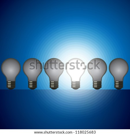 idea bulb set. leader concept