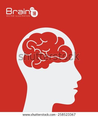 idea design over red background vector illustration - Idea Design