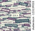 IDEA. Word collage. Vector illustration. - stock photo