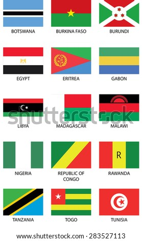 Flags from Africa