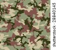 illustrated Green camouflage seamless background in forest colors - stock photo