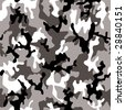 Illustrated grey and black camouflage background with a seamless design - stock vector