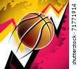 Illustrated modern basketball background with abstraction. Vector illustration. - stock photo