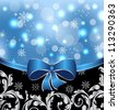 Illustration Christmas floral packing, ornamental design elements - vector - stock photo
