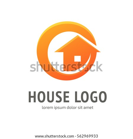 Illustration design logotype company identity symbol stock for Minimalist house logo