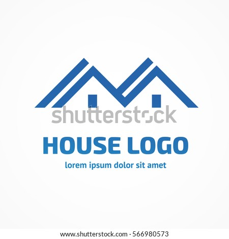 Real estate logo design vector icon stock vector 299056712 for Minimalist house logo