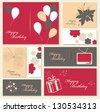 Illustration for happy birthday card. - stock vector