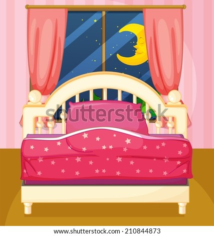Illustration of a bedroom