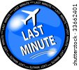 illustration of a blue last minute button - stock photo