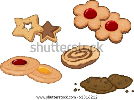 illustration of a cookies on a white background
