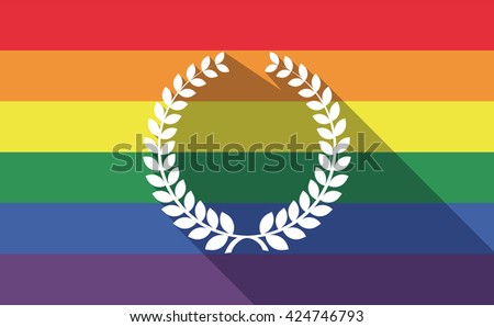 Homosexual pride banner illustration Gay christmas Christmas balls set with