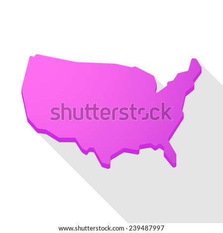 Usa Red Watercolor Vector Map Us Stock Vector Shutterstock - Map of us stock
