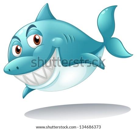 clip art illustration big fish eating stock illustration