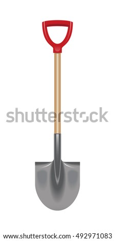 illustration of a shovel isolated on a white background