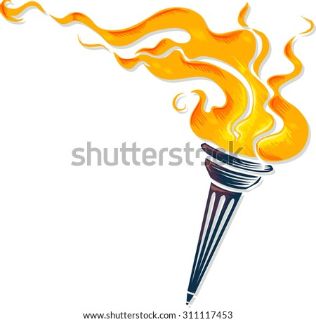 Holy spirit pentecost symbol dove flames stock vector - Raging demon symbol ...