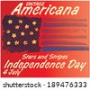 illustration of abstract American Flag for Independence Day - stock vector