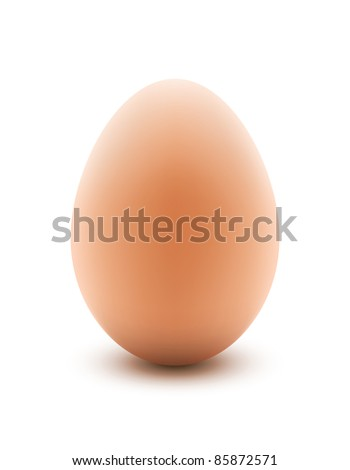 Illustration of an egg with use of gradient mesh