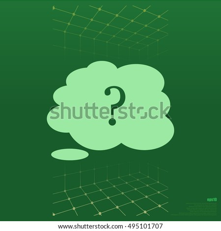 Illustration of an isolated cloud vector icon