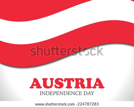 Illustration of Austria Flag For Independence Day of Austria