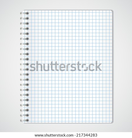 Illustration of blank page of notebook