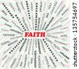 illustration of faith concept. - stock photo
