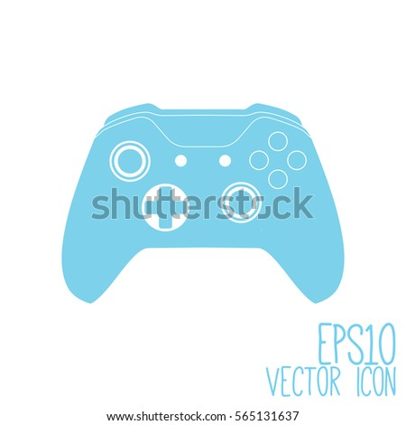 Illustration Flat Game Pad Icon Vector Stock Vector 597090665 ...
