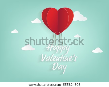 illustration of heart balloon and valentine day.