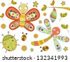 Illustration of Insect Doodles Design Elements - stock photo