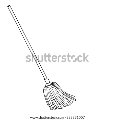 Mop Hand Drawn Illustration Stock Vector 112709275