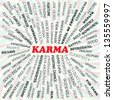 illustration of karma concept. - stock vector