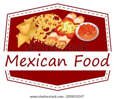 Illustration of Mexican food