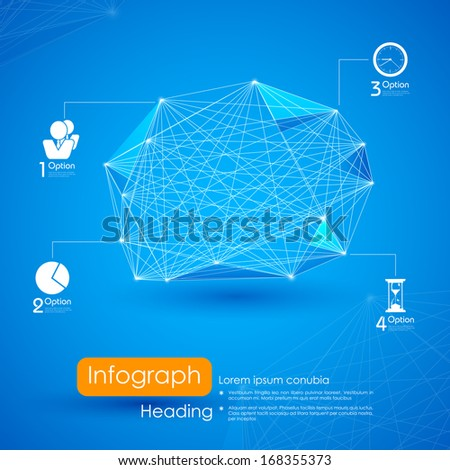 illustration of networking infographic background