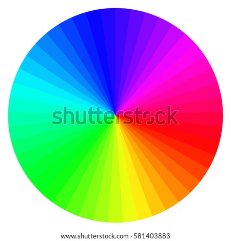 Illustration Printing Color Wheel Twelve Colors Stock