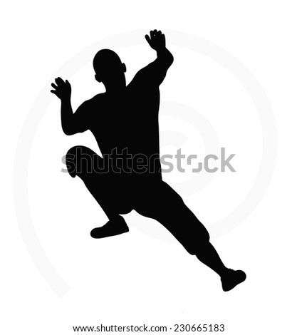 handball player action attack shut jumping stock vector