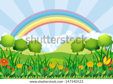 Illustration of the field and the rainbow