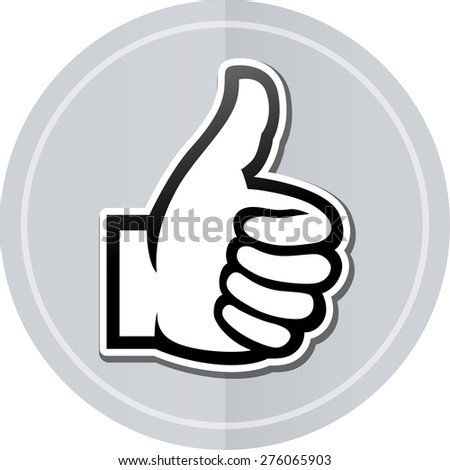Illustration of thumbs up sticker icon simple design