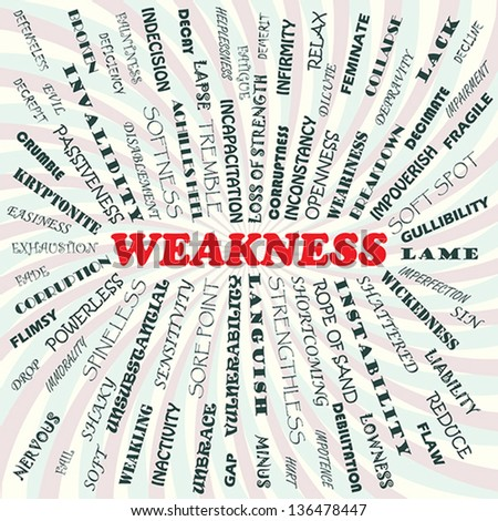 illustration of weakness concept. - stock vector