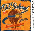 illustration retro race motor for apparel,Vintage motorcycle and car helmet,Vintage Motorcycle Race or car race hand drawing ,T-shirt Print,custom race equipment - stock vector