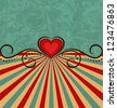 Illustration Valentine's Day vintage background - vector - stock photo