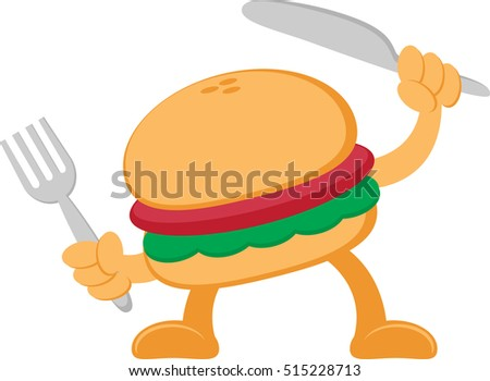 Illustration vector graphic cartoon character of burger