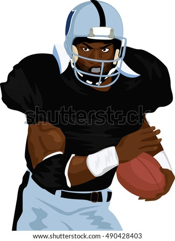 Illustration vector graphic of football rugby player