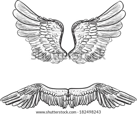 Angel Wings Three Different Formats Stock Vector 119231953 ...