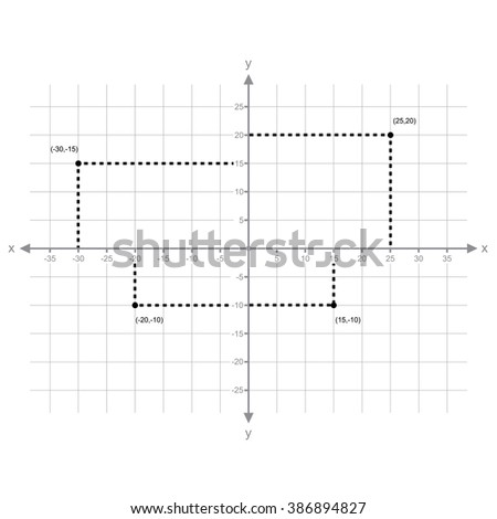 X Y Axis Numbers Vector Stock Vector 386257288 - Shutterstock