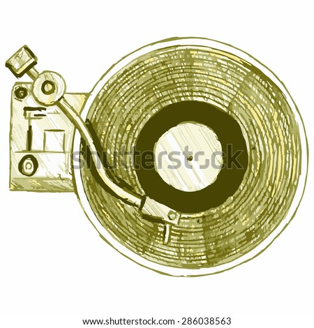 Image turntable. Musical equipment