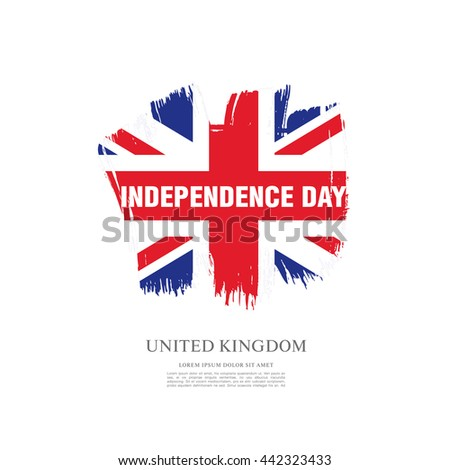 Independence Day of the United Kingdom. Vector illustration
