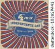 Independence Day Retro Style Abstract Background. Vector illustration, EPS 10 - stock vector
