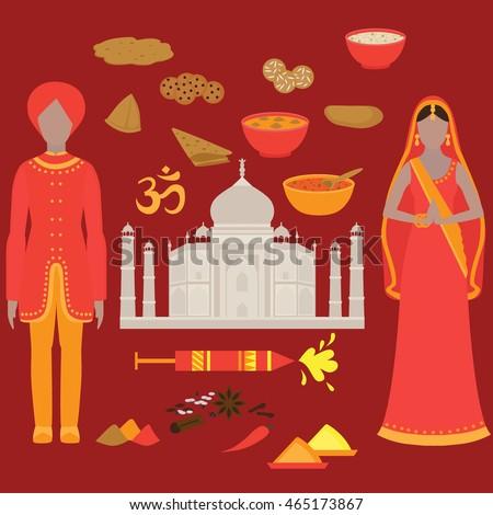 stock vector india set hinduism design elements south asia beautiful woman and man wearing indian traditional 465173867 Greatest Asian Woman to Marry - Afronix   N°1 de la vente en ligne au Bénin