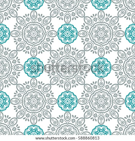 Mandala Background Invitation Card Vintage Pattern Stock